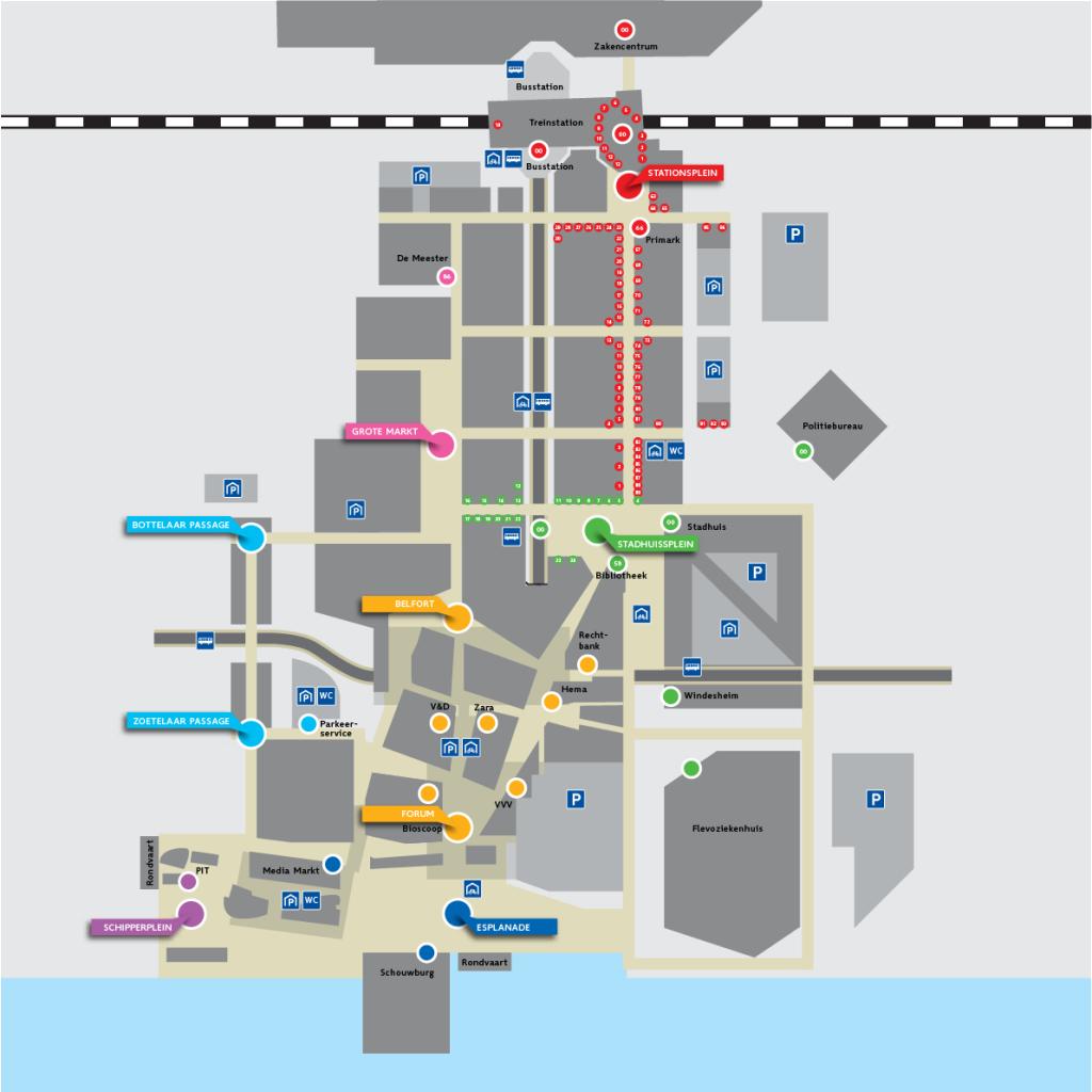 Almere stadsplattegrond concept